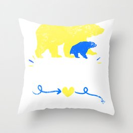 Mama Bear design Down Syndrome Awareness For Moms Throw Pillow
