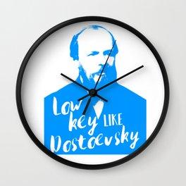 Low Key like Dostoevsky Wall Clock