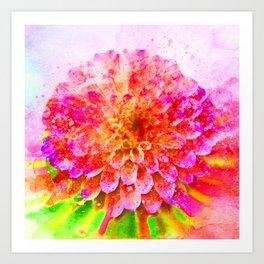 Pretty in Pink Flower Art Print