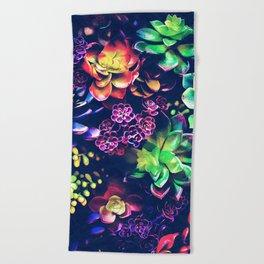 Colorful Plants Beach Towel