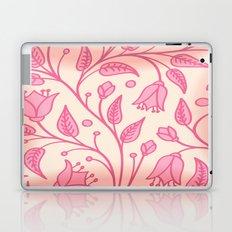 Pink Floral Satin Laptop & iPad Skin