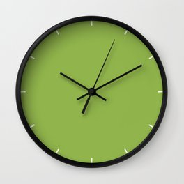 Greenery | Pantone Color of the Year 2017 | Fashion Color Spring : Summer 2017 | Solid Color | Wall Clock