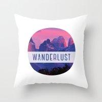 wanderlust Throw Pillows featuring Wanderlust by snaticky