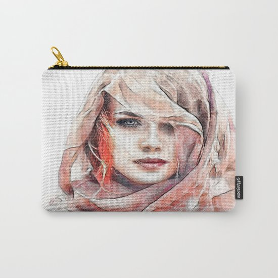 Girl under the scarf Carry-All Pouch