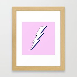 Just Me and My Shadow Lightning Bolt - Pink White Blue Framed Art Print