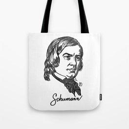 Robert Schumann composer portrait Tote Bag