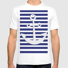 Hipster Sailing White MEDIUM Mens Fitted Tee