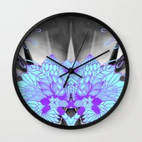 geode Wall Clocks featuring Geode 1 by michiko_design