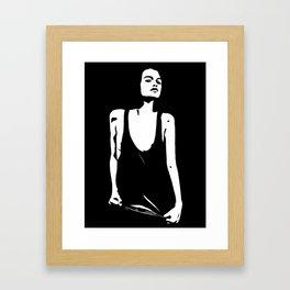 shining in the dark Framed Art Print