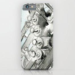 Tuba pistons iPhone Case