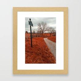 Bloody Red Lane Framed Art Print
