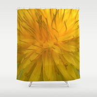 tooth Shower Curtains featuring Lion's Tooth by Stevyn Llewellyn
