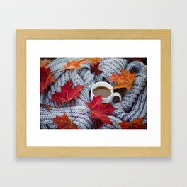 autumn coffee Framed Art Print