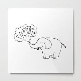 White Elephant Vote Drawing Metal Print