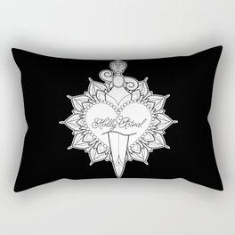 Cut Through the Heart Rectangular Pillow