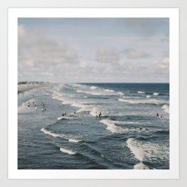 Blue Surf #2 Art Print