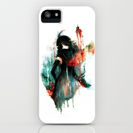 Color Bleeds Out iPhone Case