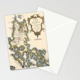 Map Of The Philippines 1752 Stationery Cards