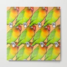 Multiple Lovebirds Metal Print
