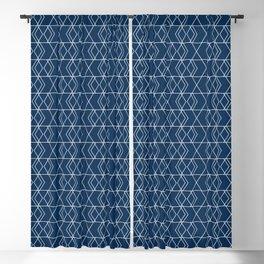 Geometric Hexagon Pattern - Spanish Blue Blackout Curtain