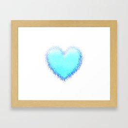 Fluffy Big Heart Framed Art Print