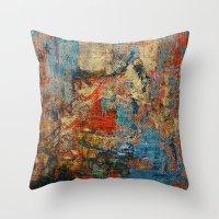 calendars Throw Pillows featuring Mannaz - Runes Series by Fernando Vieira