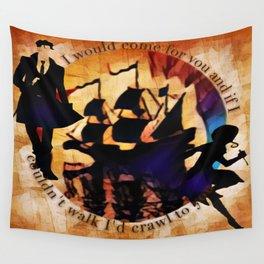 Kaz and Inej - crawl Wall Tapestry