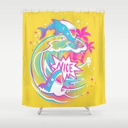 NICE SHARK Shower Curtain