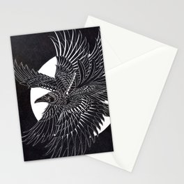 Moonlight Raven Stationery Cards