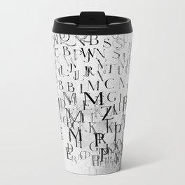 Typography and  the Black Hole Metal Travel Mug