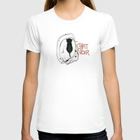noir T-shirts featuring Chat Noir by Elodie Bachelier