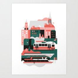 Vienna / Schwedenplatz Art Print