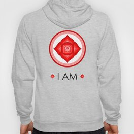 I AM - Red Lotus Root Chakra Yoga Meditation Mantra Hoody