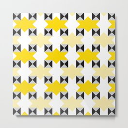 Geometric Pattern #97 (yellow stars) Metal Print