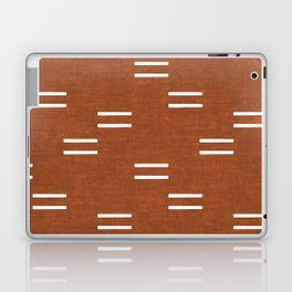double dash - burnt orange Laptop & iPad Skin
