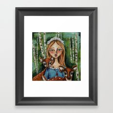 The Forest Maiden Framed Art Print