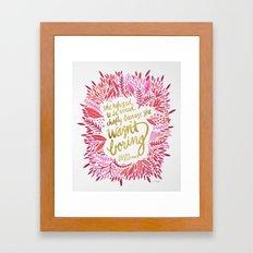 Zelda Fitzgerald – Pink on White Framed Art Print