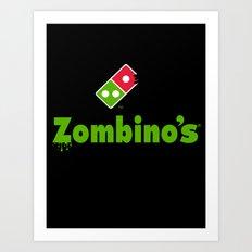 Zombino's Pizza Art Print