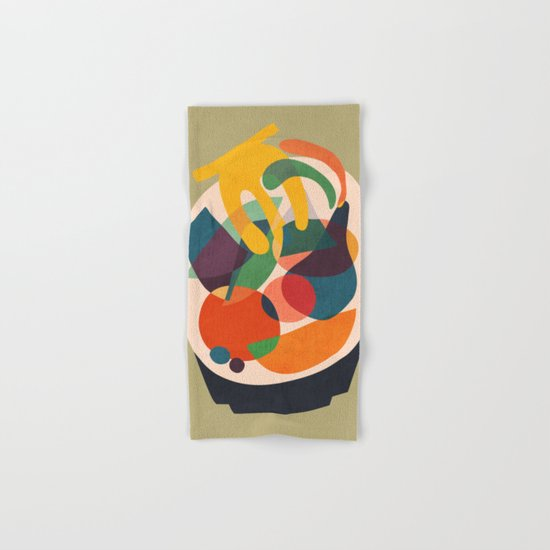 Fruits in wooden bowl Hand & Bath Towel