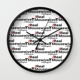 Real Mousewives Repeating Wall Clock