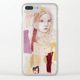 girl without wolf Clear iPhone Case