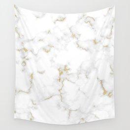 Fine Gold Marble Natural Stone Gold Metallic Veining White Quartz Wall Tapestry