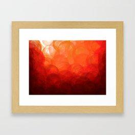 Sunset Globes Framed Art Print