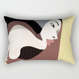 A red-haired woman12 Rectangular Pillow