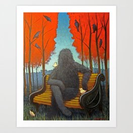A Day In The F___ing Park Art Print