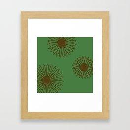Olive and Dark Brown Framed Art Print