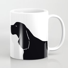 English Springer Spaniel Dog Breed Silhouette Coffee Mug