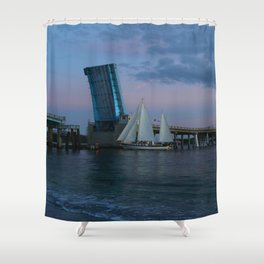 Going Home For The Night Shower Curtain