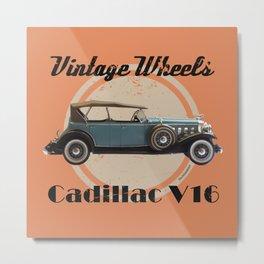 Vintage Wheels: 1931 Cadillac V16 Metal Print