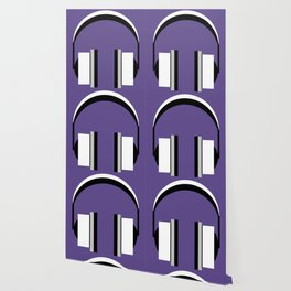 Headphones in Ultra Violet Wallpaper